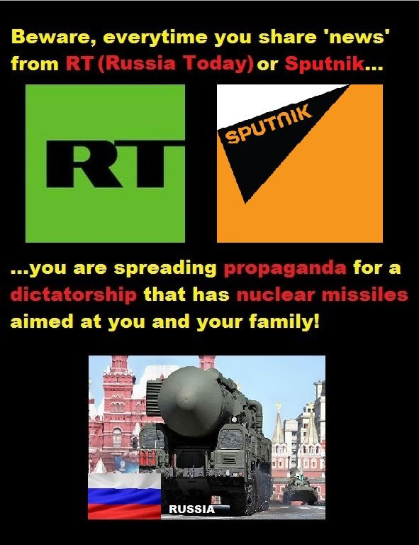RT and Sputnik are directly led by the Russian government