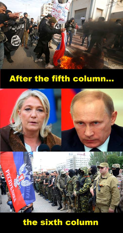 After the fifth column of violent islamism, the Russian-backed far-right presents the sixth column